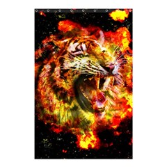 Fire Tiger Shower Curtain 48  X 72  (small)  by stockimagefolio1