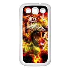 Fire Tiger Samsung Galaxy S3 Back Case (white) by stockimagefolio1