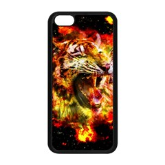 Fire Tiger Apple Iphone 5c Seamless Case (black) by stockimagefolio1