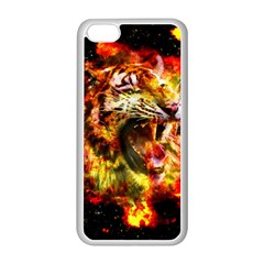 Fire Tiger Apple Iphone 5c Seamless Case (white) by stockimagefolio1