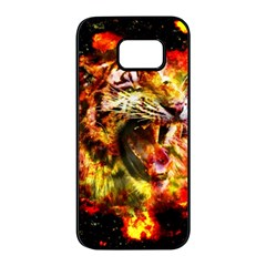 Fire Tiger Samsung Galaxy S7 Edge Black Seamless Case by stockimagefolio1