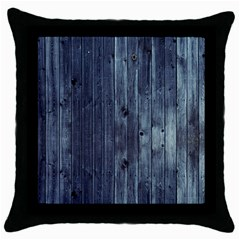 Grey Fence 2 Throw Pillow Case (black) by trendistuff
