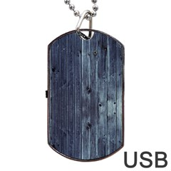 Grey Fence 2 Dog Tag Usb Flash (one Side) by trendistuff