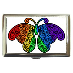 Rainbow Butterfly  Cigarette Money Cases