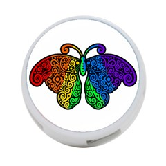 Rainbow Butterfly  4 Port Usb Hub (two Sides)  by Valentinaart
