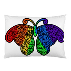Rainbow Butterfly  Pillow Case (two Sides)