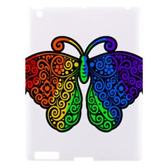 Rainbow Butterfly  Apple Ipad 3/4 Hardshell Case