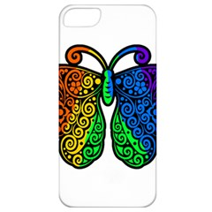 Rainbow Butterfly  Apple Iphone 5 Classic Hardshell Case by Valentinaart
