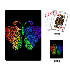 Rainbow Butterfly  Playing Card