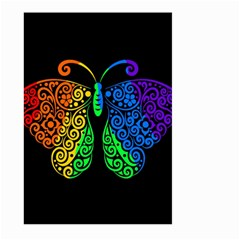 Rainbow Butterfly  Large Garden Flag (two Sides)