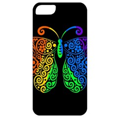 Rainbow Butterfly  Apple Iphone 5 Classic Hardshell Case