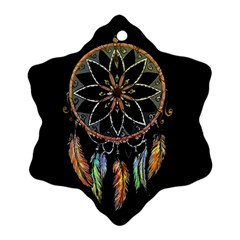 Dreamcatcher  Snowflake Ornament (two Sides)