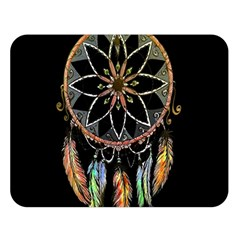 Dreamcatcher  Double Sided Flano Blanket (large)  by Valentinaart
