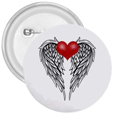 Angel Heart Tattoo 3  Buttons by Valentinaart