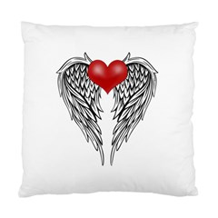 Angel Heart Tattoo Standard Cushion Case (two Sides)