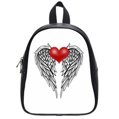 Angel Heart Tattoo School Bag (small) by Valentinaart