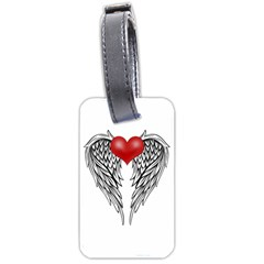 Angel Heart Tattoo Luggage Tags (one Side)  by Valentinaart