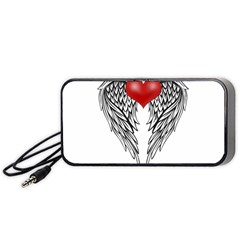 Angel Heart Tattoo Portable Speaker (black) by Valentinaart
