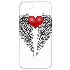 Angel Heart Tattoo Apple Iphone 5 Classic Hardshell Case by Valentinaart