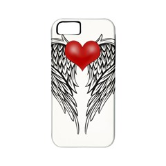 Angel Heart Tattoo Apple Iphone 5 Classic Hardshell Case (pc+silicone)