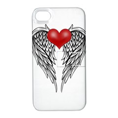 Angel Heart Tattoo Apple Iphone 4/4s Hardshell Case With Stand by Valentinaart