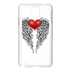 Angel Heart Tattoo Samsung Galaxy Note 3 N9005 Case (white) by Valentinaart