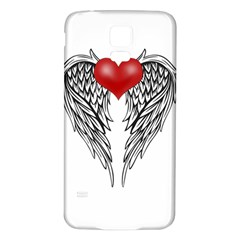 Angel Heart Tattoo Samsung Galaxy S5 Back Case (white) by Valentinaart