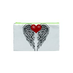 Angel Heart Tattoo Cosmetic Bag (xs) by Valentinaart