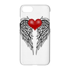 Angel Heart Tattoo Apple Iphone 7 Hardshell Case by Valentinaart