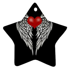 Angel Heart Tattoo Ornament (star) by Valentinaart