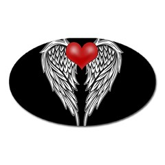 Angel Heart Tattoo Oval Magnet