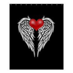 Angel Heart Tattoo Shower Curtain 60  X 72  (medium)  by Valentinaart