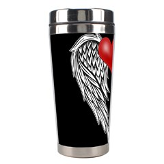 Angel Heart Tattoo Stainless Steel Travel Tumblers by Valentinaart