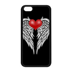 Angel Heart Tattoo Apple Iphone 5c Seamless Case (black)