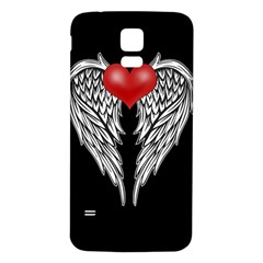 Angel Heart Tattoo Samsung Galaxy S5 Back Case (white)