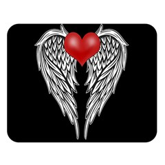 Angel Heart Tattoo Double Sided Flano Blanket (large)