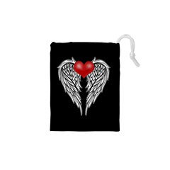 Angel Heart Tattoo Drawstring Pouches (xs)  by Valentinaart