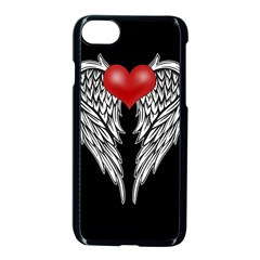 Angel Heart Tattoo Apple Iphone 7 Seamless Case (black) by Valentinaart