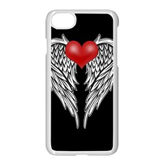 Angel Heart Tattoo Apple Iphone 7 Seamless Case (white) by Valentinaart
