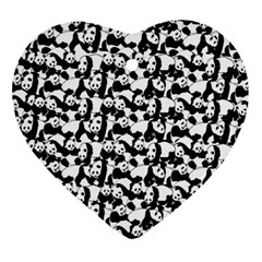 Panda Pattern Ornament (heart) by Valentinaart