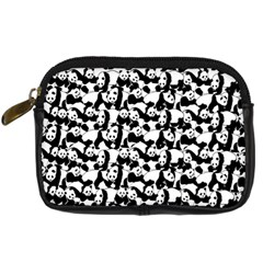 Panda Pattern Digital Camera Cases by Valentinaart