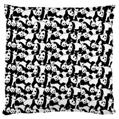 Panda Pattern Large Cushion Case (two Sides) by Valentinaart