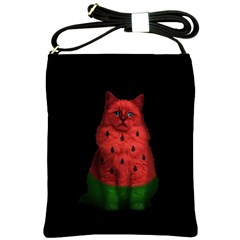 Watermelon Cat Shoulder Sling Bags