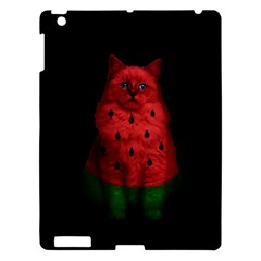 Watermelon Cat Apple Ipad 3/4 Hardshell Case by Valentinaart