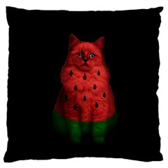 Watermelon Cat Large Cushion Case (one Side)