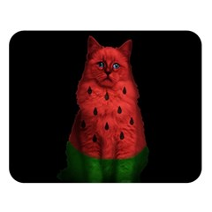 Watermelon Cat Double Sided Flano Blanket (large)