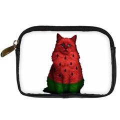 Watermelon Cat Digital Camera Cases by Valentinaart