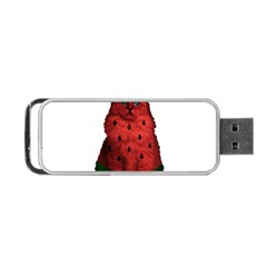 Watermelon Cat Portable Usb Flash (two Sides) by Valentinaart