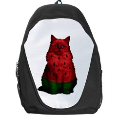 Watermelon Cat Backpack Bag by Valentinaart