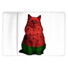Watermelon Cat Samsung Galaxy Tab 10 1  P7500 Flip Case